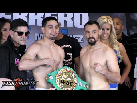 Danny Garcia vs. Robert Guerrero Full Video-COMPLETE intense Weigh In & Face Off video