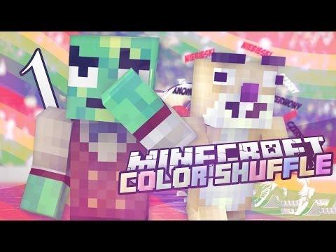 [1] Color Shuffle - ŻÓŁWI JĘZYK /w Sid   MineCraft: Mini-Game