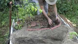 How to make a water saving vegetable bed organic gardening in the