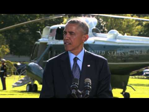 President Obama talks about the strikes on ISIL targets in Syria.