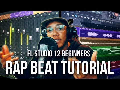 FL STUDIO 12 BEGINNER HIP HOP BEAT TUTORIAL 2017 | Old School Rap Beat