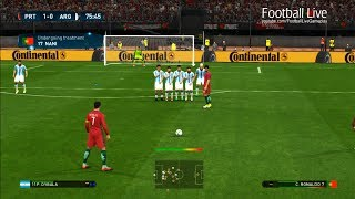 PES 2017 | Portugal VS Argentina | C.Ronaldo Free Kick Goal & Full Match | Gameplay PC