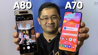 Galaxy A70 & A80: Samsung's new large screen smartphones