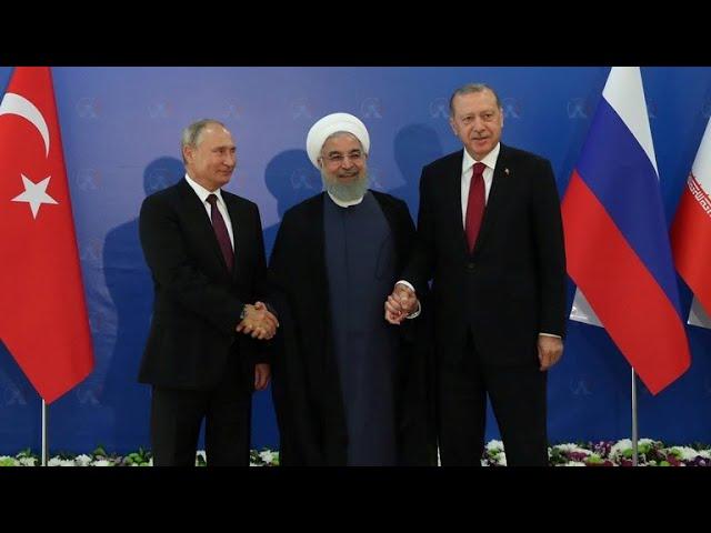 Russia, Turkey and Iran hold summit on Syria crisis