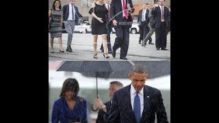 Sự khác biệt giữa Barack Obama và Donald Trump qua những bức ảnh