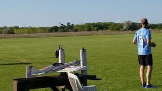 Giant A-10 turbine RC jet landing Green Bay Model Airplane Club 05-22-2018