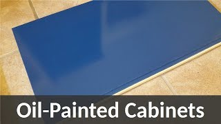 How to Use Oil Paint on Furniture: Painting Cabinets