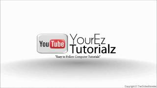 YourEzTutorialz Intro HD (After Effects) Part 2