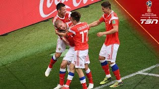 Russia gets dominating 5-0 win in opening match of 2018 FIFA World Cup