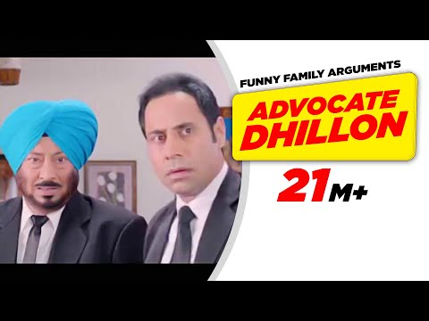 Punjabi Comedy 1 | Carry On Jatta - Advocate Dhillon Funny Family Arguments | Comedy Scene video