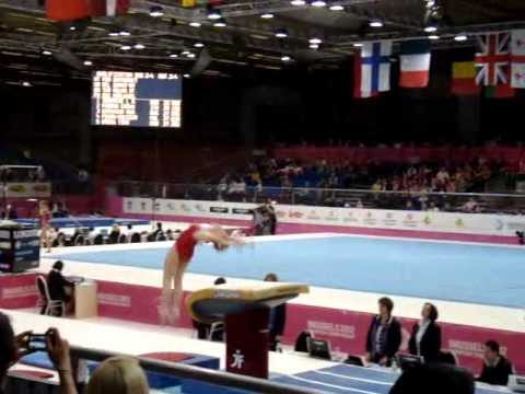 Youna DUFOURNET FRA, Vault Senior Qualification, European Gymnastics Championships 2012 (1)