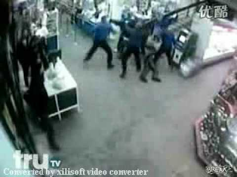 The Fight Between Guards And Drunks