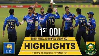 1st ODI Highlights   Sri Lanka vs South Africa 2021