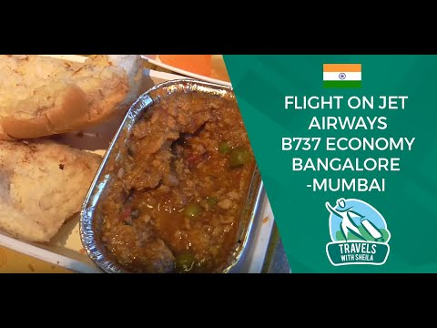 Flight on Jet Airways B737 Economy Bangalore-Mumbai