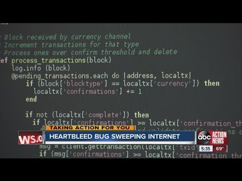 Heartbleed bug sweeping internet