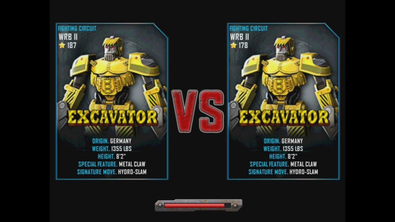 Excavator Real Real Steel Wrb Excavator vs