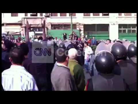 EGYPT: CELL PHONE CAPTURES PROTESTS