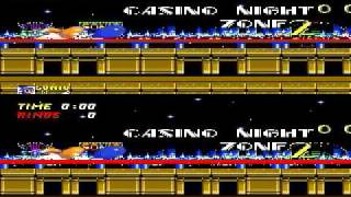 Sonic The Hedgehog 2 Casino Night Zone 2 player Netplay Race