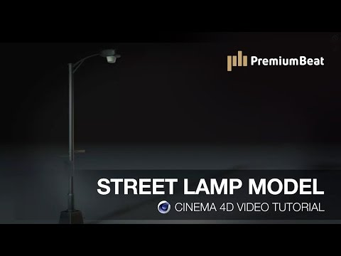 Cinema 4D Tutorial: Street Lamp Model