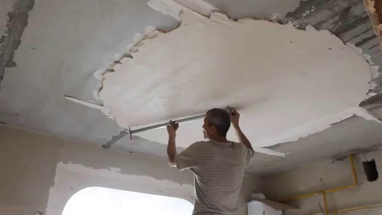Как шпаклевать потолок своими руками новичку 50