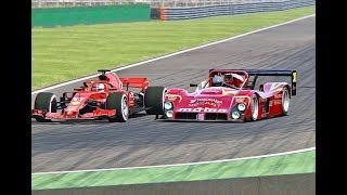 Ferrari F1 2018 vs Ferrari 333 SP - Monza