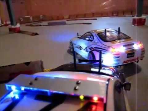 รถบังคับดริฟ แต่งแนวตำรวจ