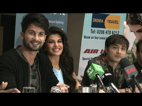 Shahid Kapoor Ali Zafar & Jacqueline Fernandes London Press Conference video