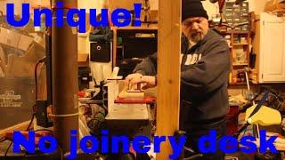 Unique no joinery wooden desk PART 2