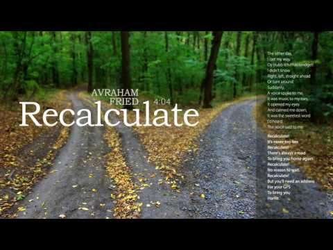 Recalculate | Avraham Fried