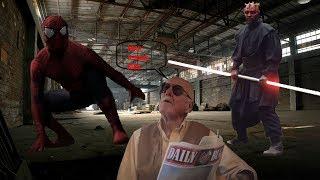 SPIDER MAN vs DARTH MAUL   Super Power Beat Down FANDUB Sunil Dip (me as every character)
