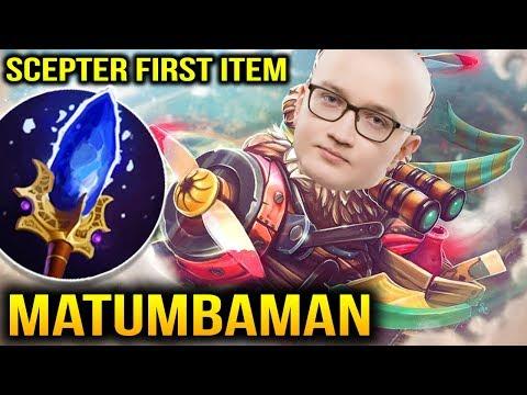 Matumbaman Gyro Side Gun Scepter First Item Dota 2 7.11