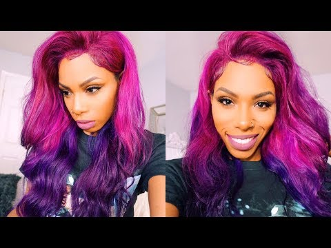 STYLE-TORIAL PINK TO PURPLE COLOR MELT UNICORN BAE HAIR TUTORIAL