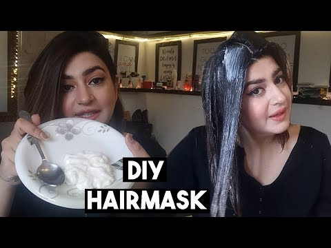 Super Glossy & Silky Hair OverNight | DIY Natural Hair Mask & Deep Conditioner | GLOSSIPS - YouTube