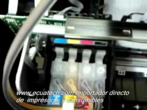 Epson sistema continuo sin chip. tx130. tx120. t22. L200 no mas almohadillas de tinta llenas