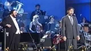 Luciano Pavarotti Video - Andrea Bocelli and Luciano Pavarotti Medley