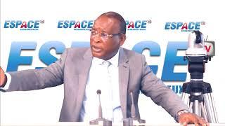 Général Sékouba Konaté, ancien président de la transition avec Lamine Guirassy sur Espace