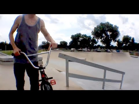 Up Rails Nose Manuals & More with Derek Strong at Eden Prairie's New Cement Skate BMX Plaza EP