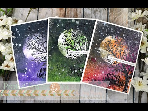 Spooky Distress Spray Stain Backgrounds | AmyR Halloween 2019 Video #7