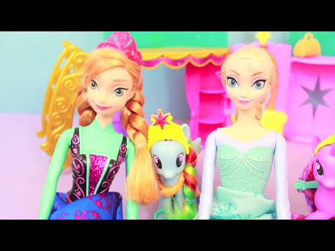 MLP My Little Pony Crystal Palace with Disney Frozen ELSA, Anna, Kristoff, and Hans