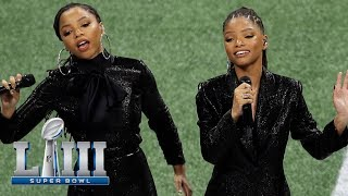 Chloe x Halle Sing America the Beautiful | Super Bowl LIII NFL Pregame