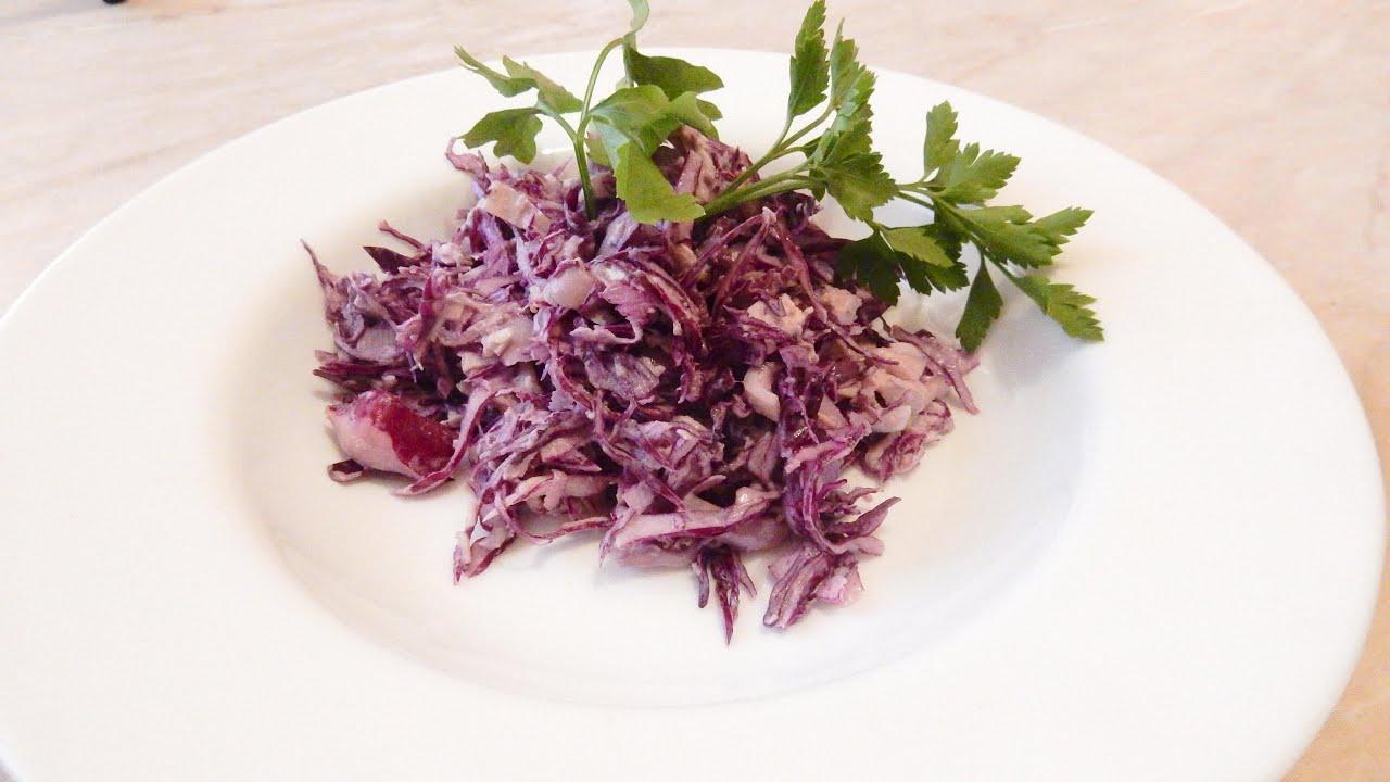 Рецепт из красной капусты