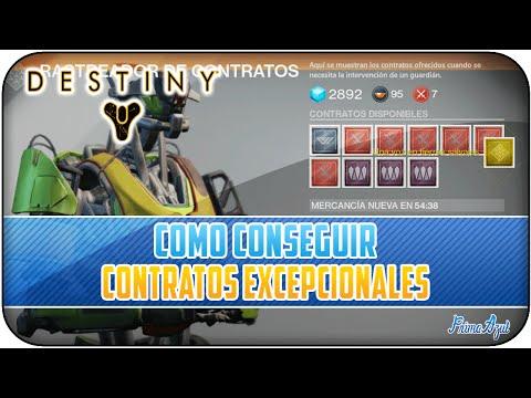 DESTINY - COMO CONSEGUIR CONTRATOS EXCEPCIONALES! - COMO CONSEGUIR ARMAS EXOTICAS!