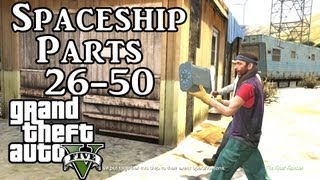 Grand Theft Auto 5 Spaceship Parts Locations (26- 50 ) - GTA V Space Ship Part Location