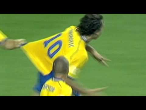 ZLATAN - against italy 2004