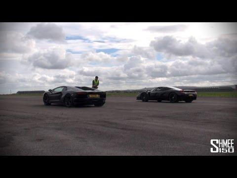 Supercar Drag Races - Veyron, Enzos, XJ220S, Aventador, F12, Carrera GT,