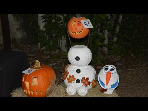 Halloween Guest Pumpkin Decorating at Disney's Fort Wilderness Resort Including Olaf, Hag, Mickey