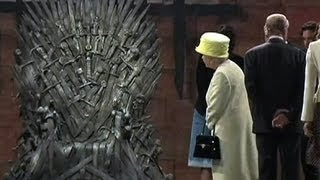 "Watch: Queen Elizabeth visits ""Game Of Thrones"" set"