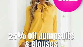 25% Off Jumpsuits & Blouses