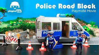 Playmobil City Action Police Road Block, Police Van And Much More!