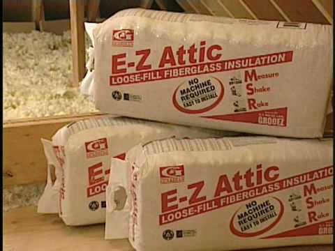 Adding loose fill insulation to an attic how to save for Loose fill fiberglass insulation